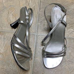 Spring Silver Strappy Heel